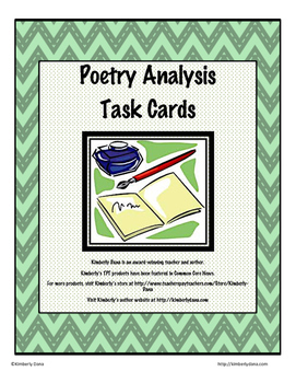 Literature Analysis Jumbo Task Card Bundle by Kimberly Dana