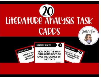 Literature Analysis Task Cards CCSS