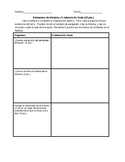 Literature Assessment in Spanish (theme, character analysis, and summary)