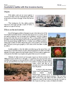 Literature: Australia's Battle with the Invasive Bunny (50 mins)