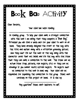 "Literature Bags ""Book Bags"" :  Making Connections to Literature"