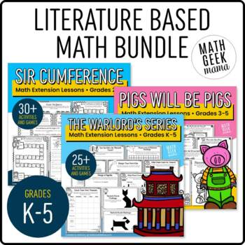 Literature Based Math Resource Bundle (Sir Cumference, Warlords, Pigs...)