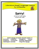 Literature-Based Speech-Language Lessons: Sorry!