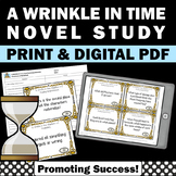 A Wrinkle in Time Novel Study, Vocabulary & Comprehension Questions by Chapter