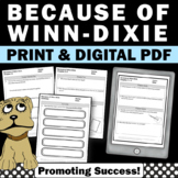 Because of Winn Dixie Novel Study Questions, 2nd or 3rd Grade Book Companion