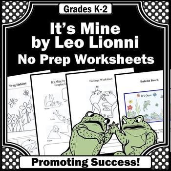 It's Mine Leo Lionni Activities ELA Emergency Sub Plans 1st Grade 2nd Grade