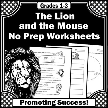 The Lion and the Mouse 1st or 2nd Grade Book Companion Reading Comprehension