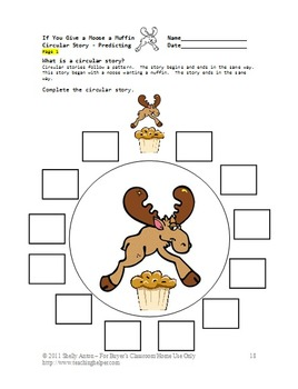 If You Give a Moose a Muffin Book Activities, ELA Emergency Sub Plans