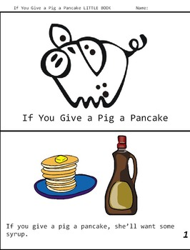 If You Give a Pig a Pancake Book Study Companion, ELA Emergency Sub Plans