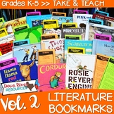 Literature Bookmarks for Picture Book Read Alouds {Take and Teach Volume 2}