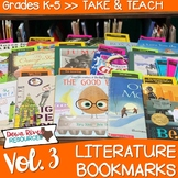 Literature Bookmarks for Picture Book Read Alouds {Take and Teach Volume 3}