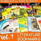 Literature Bookmarks for Picture Book Read Alouds {Take and Teach Volume 4}