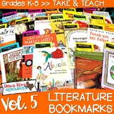 Literature Bookmarks for Picture Book Read Alouds {Take and Teach Volume 5}