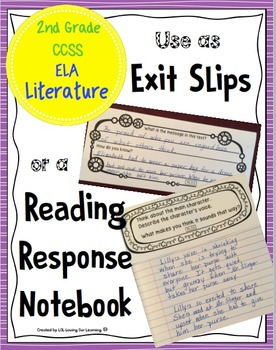 Reading Exit Slips 2nd Grade Literature CCSS