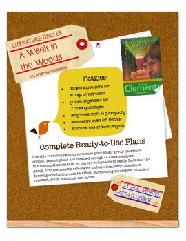 Literature Circle:  A Week in the Woods by Andrew Clements