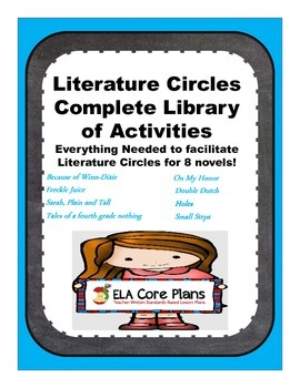 Literature Circle Activity Bundle for 8 Upper Elementary/Middle School Titles