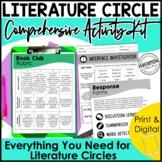 Literature Circle Activity Kit   Book Clubs Student Organi
