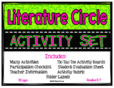 Literature Circle Activity Set (for any book) w/ activities, directions, rubric