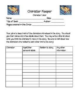 Literature Circle Activity Sheets