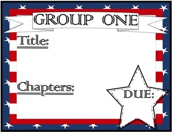 Book Club / Guided Reading Assignment Reminder Sheets + Li