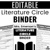 Literature Circle Binder for ANY Grade!