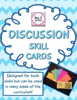 Literature Circle/Book Club Discussion Cards