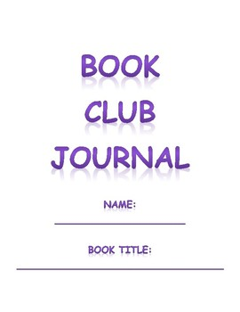 Literature Circle/Book Club Group Journal