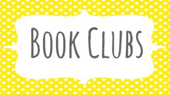 Literature Circle/Book Club Posters