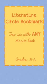 Literature Circle Bookmark