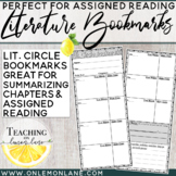 Literature Circle Bookmark (Book Club, Literature Study) Guided Reading
