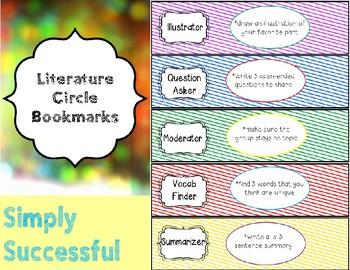Literature Circle Bookmarks
