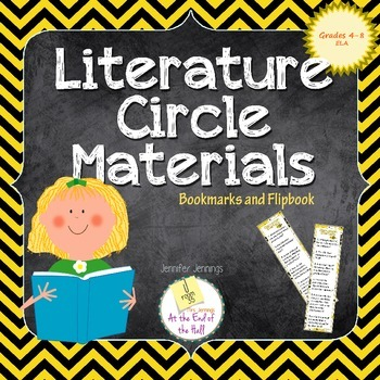 Literature Circle Bookmarks and Flipbook
