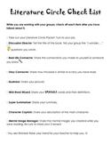Literature Circle Checklist
