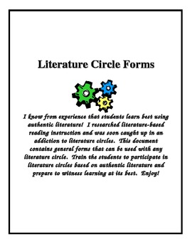 Literature Circle Checklists and Forms