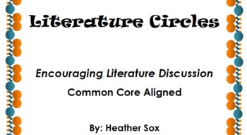 Literature Circle Common Core Discussion Group Packet