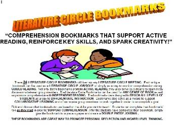 Literature Circle/ Comprehension Bookmarks