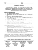 Literature Circle Discussion Director Role Sheet