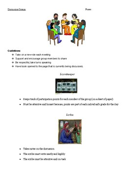 Literature Circle Discussion Group Roles