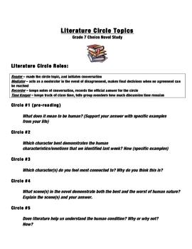 Literature Circle Discussion Topics