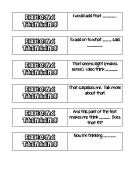 Extend Thinking Question Stems
