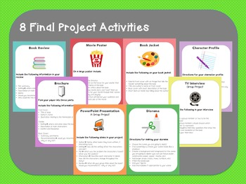Literature Circle Final Project Pack