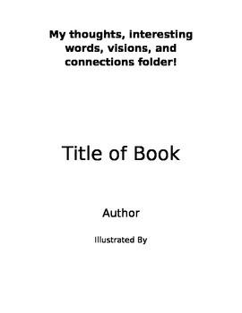 Literature Circle Folder Cover