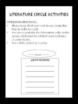 Literature Circle {For Any Novel}