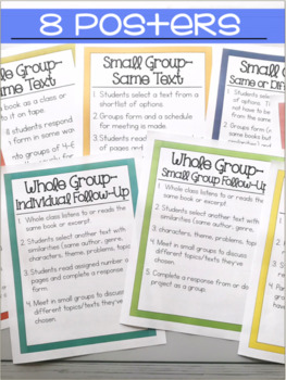 Literature Circle Forms, rubrics, posters, and MORE!