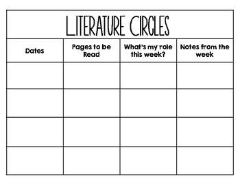 Literature Circle Freebie