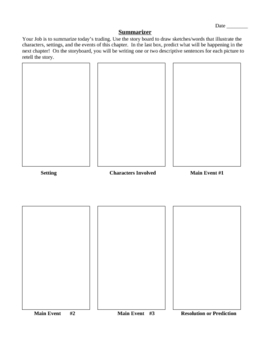 Literature Circle Graphic Organizers for 6 student roles