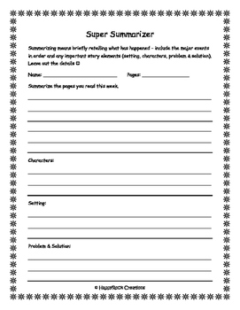 Literature Circle Student Activity Package