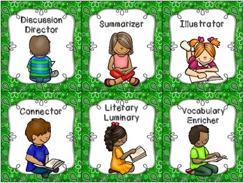 Literature Circle Grouping Cards