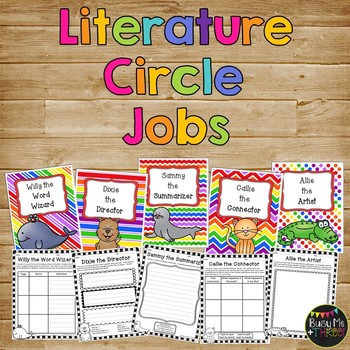 Literature Circle JOBS for 1st and 2nd Grade, Guided Reading Groups