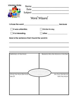 Literature Circle Job #3 - The Word Wizard